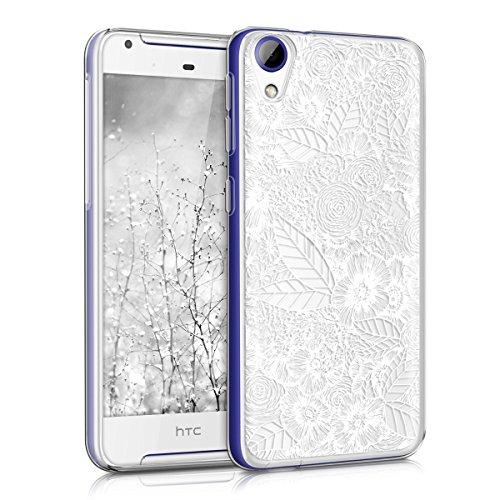 kwmobile Hülle kompatibel mit HTC Desire 628 dual SIM - Handyhülle - Handy Hülle Blumenmeer Weiß Transparent