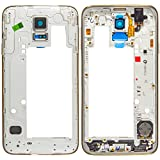 Original Samsung medio principale frame copertina Grigio/colore grigio Samsung G903F Galaxy S5 NEO (medio copertina, corpo) - GH98-37880B