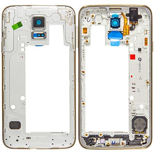 Unbekannt Original Samsung Mainframe Mittelcover Grey/grau für Samsung G903F Galaxy S5 NEO (Mittel Cover, Gehäuse) - GH98-37880B