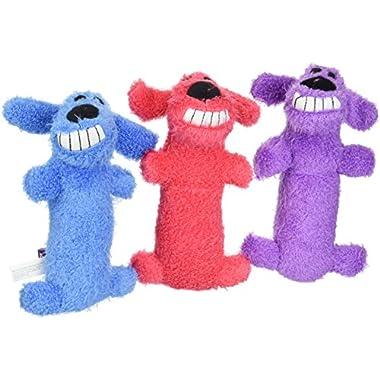 (3 Pack) Multipet Mini Plush Loofa Dog Toy 6-Inch