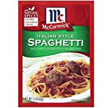 McCormick Italian Mushroom Spagehetti Sauce Mix (Pack of 4) 1.5 oz Packets