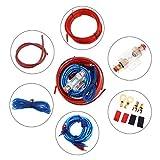 ePathChina Kit d'installation d'amplificateur, kit d'installation de Caisson de Basses d'amplificateur de cablage Audio de Voiture, Cables de Haut-Parleur Cordon d'alimentation de Voiture