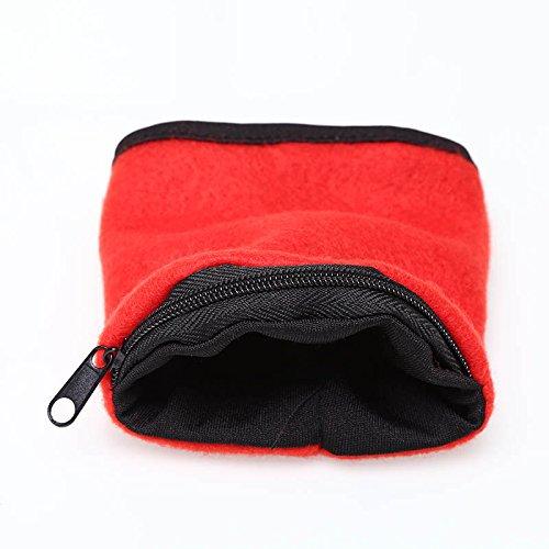 Forfar 1 pc Porte poignets Bracelet à fermeture à glissière Bande de sac à main de poignet Running Accessiories facile à porter Convient pour faire du cyclisme et des sports de plein air
