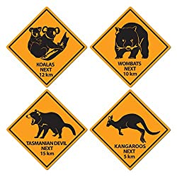 Outback Rock Weekend Critter Crossing Signs