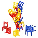 """SRENTA 2"""" Chairs Tower Balancing Game, Children Stack up Chairs Toy, Desk Play Game Toys for Kids Children Boy Girl Adults, Pack of 2"""