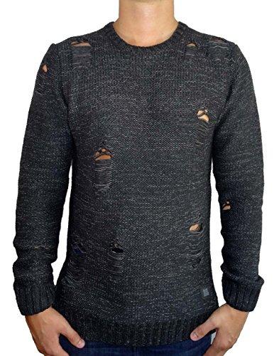 Black Kaviar Herren KARNABY Pullover, Schwarz (Black), L