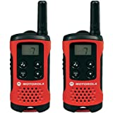 Motorola TLKR T40 Walkie-Talkie, Pantalla LCD, Rojo
