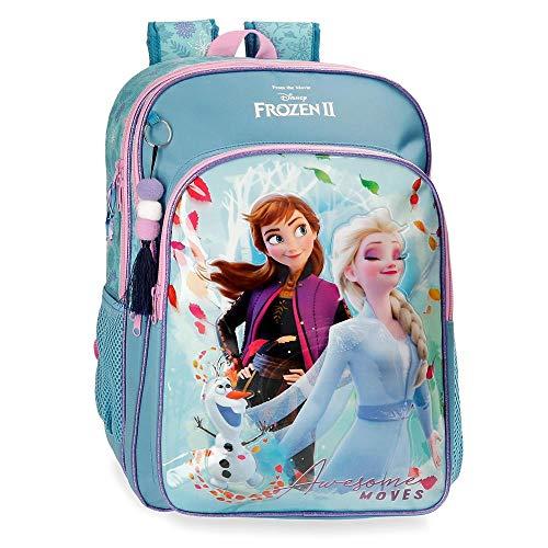 Disney Frozen Die Eiskönigin Awesome Moves Schul-Rucksack Blau 31x42x13 cms Mikrofaser und PVC. 16.93L
