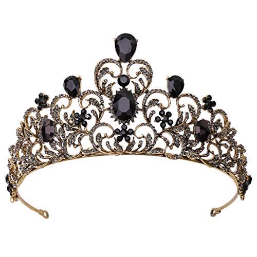 FRCOLOR Tiara de Cristal para Boda de Mujer Vintage Princesa Tiara Tocado...