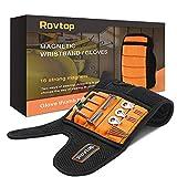 Rovtop Pulsera Magnética Ajustable con 16 Potentes Imanes, Utilizada para Fijar Clavos, T...