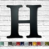Metal Letter H - 8', 12', 16', 22', 30' or 35' inch tall - Handmade metal wall art - Choose your Patina Color,...