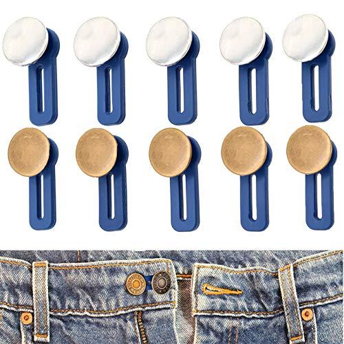 Hosen Knöpfe Extender Knopf Taille Extender Verlängerung Knöpfe Elastische Jeans-Knöpfe Bund Extender Für Jeans Für Jeans Kleid Bequeme Wunderknöpfe Hosenerweiterung Denim Bunderweiterung(10 Stück)