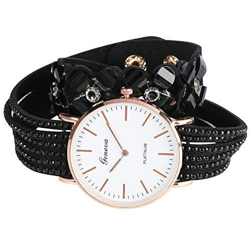 Bracelet Watches for Women, Classic Korean Style Quartz Wrist Watches Special Geneva Ultra-Thin Analog Bangle for Girls