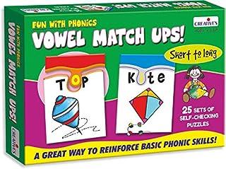 Creative Educational Creative Pre-School Fun with Phonics-Vowel Match Ups
