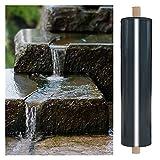 RT-OSXE 0.5mm Fischteichfolie, Heavy Duty Faltbar Undurchlässige Membran, Reißfest Flexibel Teichfolien für Brunnen Wasserfall Schwimmbad, Anpassen (Color : Black (0.5mm), Size : 5mx6m)