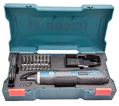 Bosch Kit visseuse sans fil Go 3.6V 33 embouts, adaptateur et câble de recharge USB