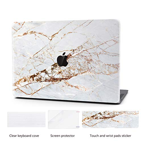 Laptop Case for MacBook Retina 13 Inch Keyboard Cover Plastic Hard Shell Touch Bar 4 in 1 Bundle with Screen Protector for MacBook Retina 13 '' (Model:A1425/A1502), Abstract Slash Marble