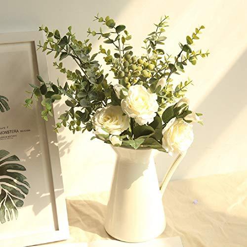 Nicole Knupfer rosas artificiales flores, flores injustas decoración artificial flores flores Home boda ramo de flores de seda mesa de centro de piezas decoración