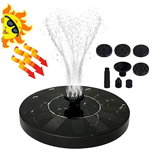 Jsdoin Solar Fountain Pump, Solar Powered Bird Bath Fountain Pump,Free Standing Outdoor Submersible Fountain Panel Kit for Pond, Pool, Patio, Garden