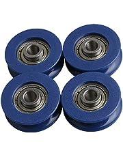 BQLZR 25.5x5x8.8mm 625ZZ Tipo U Gu¨ªa de rodamiento de bolas Rodamiento Ruedas Rodillo de carga 59KG para Gabinete Ventana de la ventana Impresora Paquete de 4
