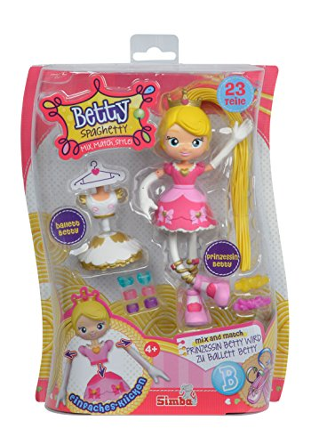 Simba 109281000pri–Betty Espaguetis muñeca Princesa/Bailarinas de Ballet