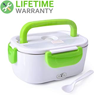Electric Heating Lunch Box Food Heater Portable Lunch Containers Warming Bento Car 12V Hot Lunch Box (Green Car Use Only)