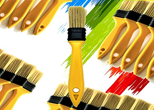 PANCLUB Chip Paint Brushes Bulk 1.5 inch | Sturdy Bristles | S.Chip Brush | 24 Pack of Paint Brush for Home Wall Trim House | 100% Plastic | for Paint, Glues, Stains and Completely Recyclable