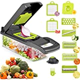 Vegetable Chopper Slicer, FENYI 10 in 1 Chopper Vegetable Cutter with Container Multi-function Kitchen Aid Carrot Cutter, Vegetable/Fruit/Cheese/Onion Chopper