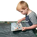 COMHO Weighted Blanket for Kids 7 lbs,41'x60' Grey 100% Cotton Material with Glass Beads
