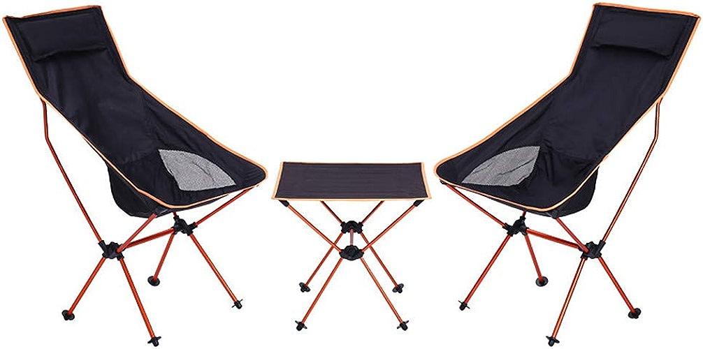 Table de camping table pliante Multi-fonction Portable Camping Plage De Pêche Randonnée Loisirs Table Et Chaise Pliante Trois-pièces pour Utilisation Extérieur, Robuste Et Durable