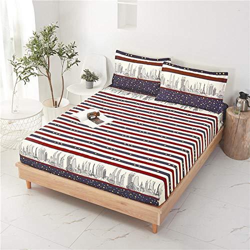HPPSLT Sábana Ajustable súper Suave, cálida y acogedora La sábana es a Prueba de Polvo y Espesa-9_90 * 200 + 25cm
