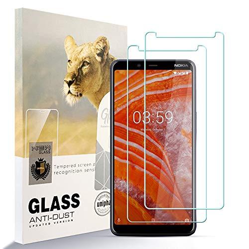 zidwzidwei AYSOW Protector de Pantalla para Nokia 3.1 Plus, 9H Dureza Película de Vidrio Templado HD Antihuellas sin Burbujas Fácil de Instalar, Protector de Vidrio para Nokia 3.1 Plus [2 Pcs]