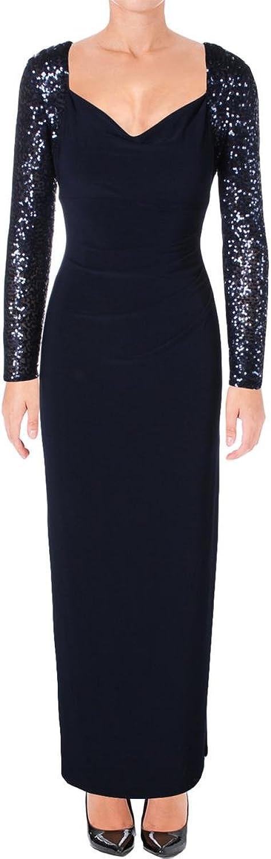 Lauren Ralph Lauren Sequin Sleeves Gown