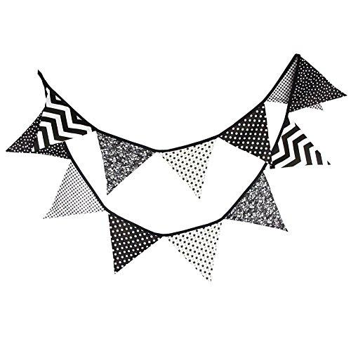 DaoRier Tela de Algodón Bunting Banner Bandera del Triángulo Bandera Cuerda Colgando...