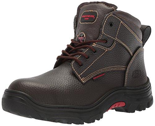 Skechers for Work Men's Burgin-Tarlac Industrial Boot,brown embossed leather,10.5 M US