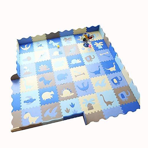 HLMIN Tapis de Puzzles/Jigsaw Tapis Rampant Bébé Tapis De Jeu Tapis De Mousse Imperméable Donner Un Bord Ondulé Donner Un Bord Anti-écrasement (Color : D, Size : 36PCS)