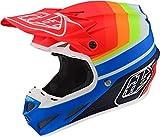 Troy Lee Designs SE4 Mirage MIPS - Casco de motocross (talla S), color azul y rojo