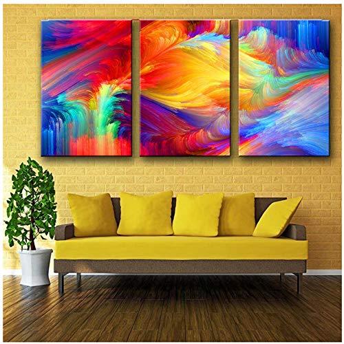 Bzdmly schilderij op canvas, abstract, motief: schilderen van de regenboog 40x60 cm/15.7