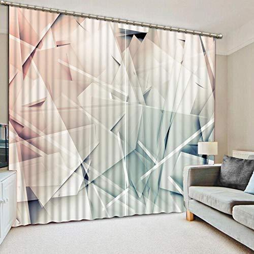 DOORWD Cortina Opaca 3D de Aislamiento térmico Vidrio Cuadrado Decora