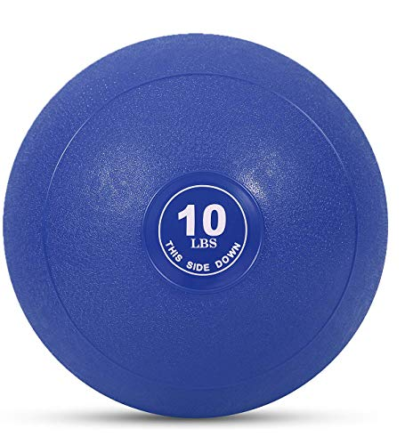 Weighted Slam Ball by Day 1 Fitness – 10 lbs - No Bounce Medicine Ball - Gym Equipment Accessories for High Intensity Exercise, Functional Strength Training, Cardio, CrossFit