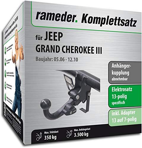 Rameder Komplettsatz, Anhängerkupplung abnehmbar + 13pol Elektrik für Jeep Grand Cherokee III (148467-05438-1)