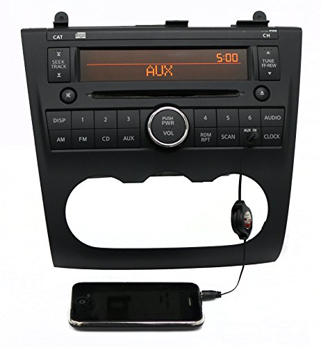 1 Factory Radio AM FM Radio Single Disc CD Player w Aux Input Compatible with 2010-2012 Nissan Altima 28185ZX11A