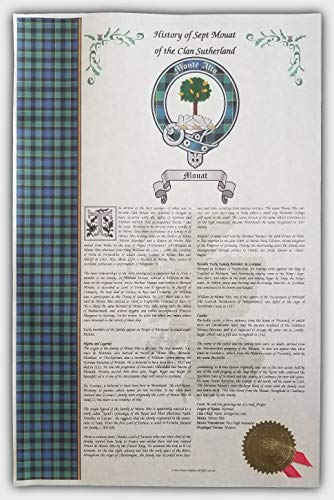 Mr Sweets Calhoun Scottish Clan & Sept 11x17 History Print - Tartan, Buckle, Crest, Last Name Surname Meaning, Genealogy, Family Tree Research Aid, Roots, Ancestry, Ancestors and Namesakes