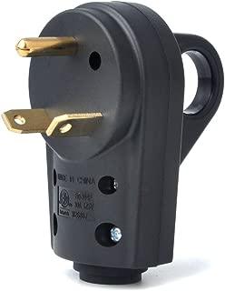 BougeRV 30 AMP RV Receptacle Plug Electrical Plug Adapter with Handle (Male Plug)