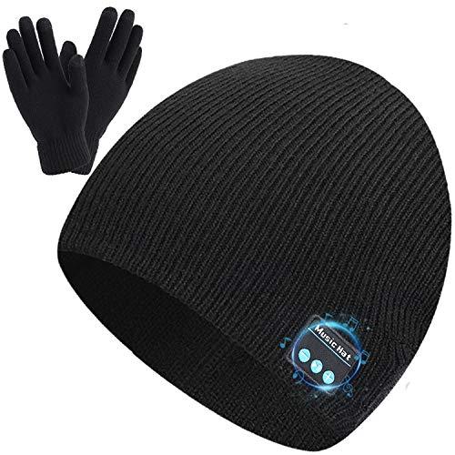 Wireless Beanie Hat Music Hat with Gloves for Men Women Gift