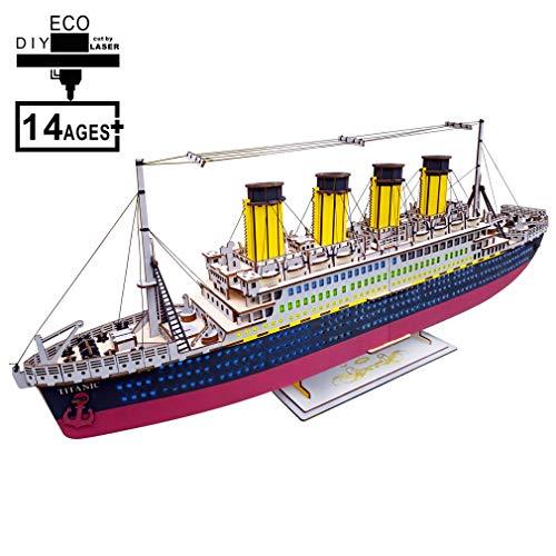 3D-puzzel zeilboot DIY educatief speelgoed huis kids gift spelletjes gemonteerd houten constructie ferry model houten speelgoed boot