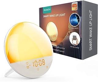 MoesGo 2nd Generation WiFi Smart Wake up Light Sunrise Alarm Clock for Kids, 7 Colours, Sunrise and Sunset Simulation, 4 A...