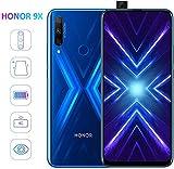 honor 9x smartphone 2020 nuovo 4 gb ram, memoria 128 gb telefono, schermo intero 6,59full hd dual sim tripla fotocamera posteriore 48+8+2 mp