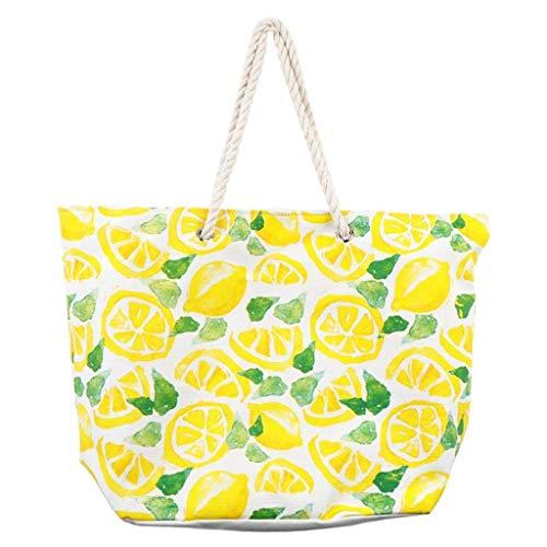 DEI Lemon Tote Bag, 22'x7.9'x16.0', Multicolored