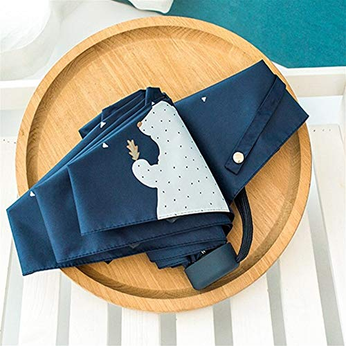 Umbrella UV Protect Umbrella Mini Pocket Compacto Plegable Sun UV Rain 5 Light Anti Small Nuevo Travel (Color : White)